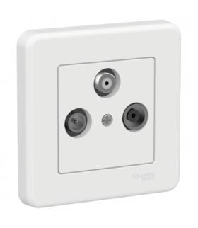 Leona Gniazdo TV-R-SAT, biały Schneider LNA3504221