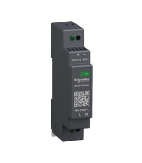 Phaseo, regulowany zasilacz impulsowy, 100...240 V AC, 24V 0.4 A, 1 fazowy, Modular, ABLM1A24004 Schneider Electric