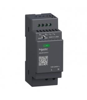 Phaseo, regulowany zasilacz impulsowy, 100...240 V AC, 24V 1.2 A, 1 fazowy, Modular, ABLM1A24012 Schneider Electric