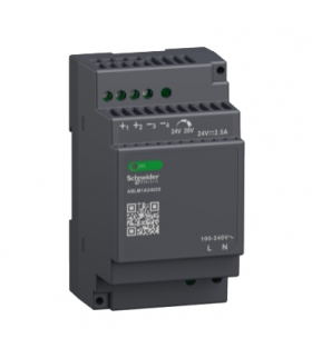 Phaseo, regulowany zasilacz impulsowy, 100...240 V AC, 24V 2.5 A, 1 fazowy, Modular, ABLM1A24025 Schneider Electric