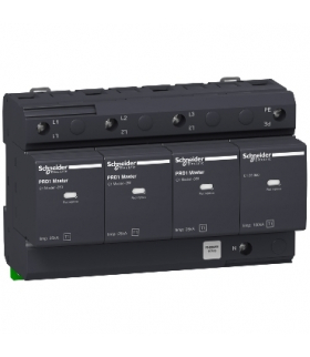 Ogranicznik przepięć Acti9 PRD1Master-T1-3N 3+1-biegunowy Typ1 25 kA ze stykiem, 16363 Schneider Electric