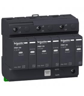Ogranicznik przepięć Acti9 PRD125r-T12-3 3-biegunowy Typ1+Typ2 25 kA ze stykiem, 16331 Schneider Electric