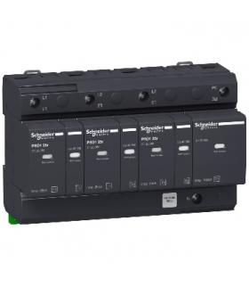 Ogranicznik przepięć Acti9 PRD125r-T12-3N 3+1-biegunowy Typ1+Typ2 25 kA ze stykiem, 16332 Schneider Electric