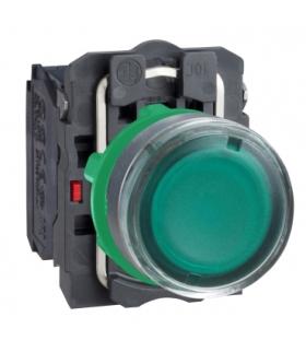 Harmony XB5 Przycisk płaski zielony LED 230/240V, XB5AW33M5 Schneider Electric