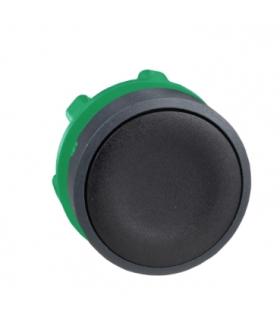 Harmony XB5 Główka przycisku płaskiego plastikowego z samopowrotem, czarna bez oznaczenia, ZB5AA2 Schneider Electric