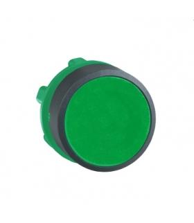 Harmony XB5 Główka przycisku płaskiego plastikowego, zielona bez oznaczenia, ZB5AA3 Schneider Electric