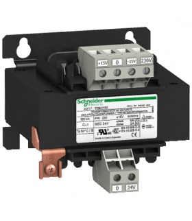 Phaseo ABT7/ABL6, separacyjny transformator napięcia, 230 V, 1 x 24 V, 250 VA, ABT7ESM025B Schneider Electric