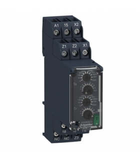 Zelio Time Przekaźnik czasowy pulsujący 24 240V AC/DC, zakres 0.05s/ 300h, styk 1C/O 8A, RE22R1MLMR Schneider Electric