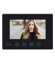 Wideodomofon WiFi dwurodznny, CZARNE 7'' monitory, czytnik zbliżeniowy