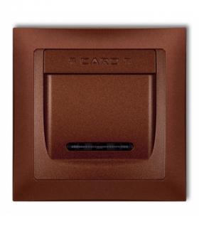 DECO Łącznik hotelowy z ramka uniwersalna pojedyncza z tworzywa DECO Soft Brązowy metalik Karlik 9DSHSO-1
