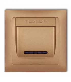 DECO Łącznik hotelowy z ramka uniwersalna pojedyncza z tworzywa DECO Soft Złoty metalik Karlik 8DSHSO-1