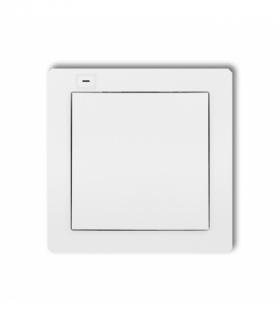 DECO Nadajnik 1-klawiszowy 2-kanałowy z czujnikiem temperatury do systemu Exta Life Biały Karlik DEL-1
