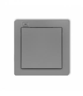 DECO Nadajnik 1-klawiszowy 2-kanałowy z czujnikiem temperatury do systemu Exta Life Szary mat Karlik 27DEL-1