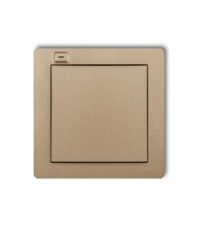 DECO Nadajnik 1-klawiszowy 2-kanałowy z czujnikiem temperatury do systemu Exta Life Złoty metalik Karlik 8DEL-1