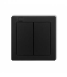 DECO Nadajnik 2-klawiszowy 4-kanałowy z czujnikiem temperatury do systemu Exta Life Czarny mat Karlik 12DEL-2