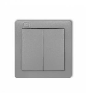 DECO Nadajnik 2-klawiszowy 4-kanałowy z czujnikiem temperatury do systemu Exta Life Srebrny metalik Karlik 7DEL-2