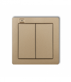 DECO Nadajnik 2-klawiszowy 4-kanałowy z czujnikiem temperatury do systemu Exta Life Złoty metalik Karlik 8DEL-2