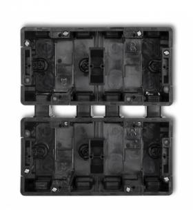 DECO Puszka instalacyjna podtynkowa 4 krotna (2 poziom 2 pion) Czarny Karlik DPM-2x2