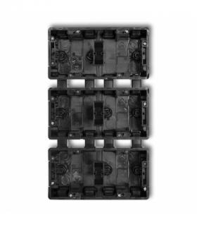 DECO Puszka instalacyjna podtynkowa 6 krotna (2 poziom 3 pion) Czarny Karlik DPM-2x3