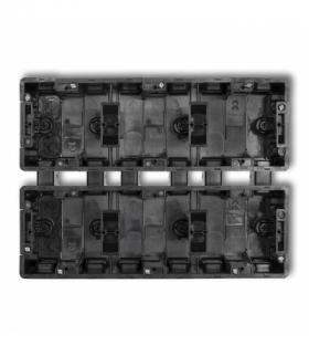 DECO Puszka instalacyjna podtynkowa 6 krotna (3 poziom 2 pion) Czarny Karlik DPM-3x2
