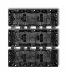 DECO Puszka instalacyjna podtynkowa 9 krotna (3 poziom 3 pion) Czarny Karlik DPM-3x3