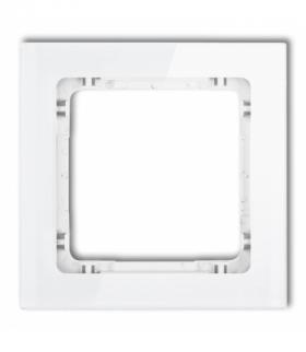 DECO Ramka modułowa niestandardowa (1 moduł) - efekt szkła (ramka biała spód biały) Biały Karlik 0-0-DRSMN-1