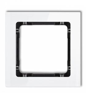 DECO Ramka modułowa niestandardowa (1 moduł) - efekt szkła (ramka biała spód czarny) Biały Karlik 0-12-DRSMN-1