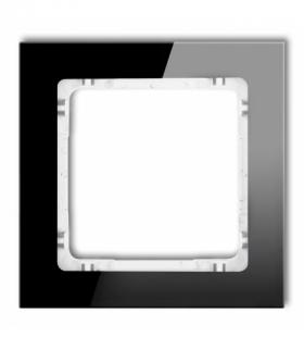 DECO Ramka modułowa niestandardowa (1 moduł) - efekt szkła (ramka czarna spód biały) Czarny Karlik 12-0-DRSMN-1