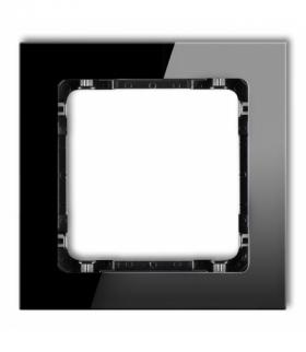 DECO Ramka modułowa niestandardowa (1 moduł) - efekt szkła (ramka czarna spód czarny) Czarny Karlik 12-12-DRSMN-1