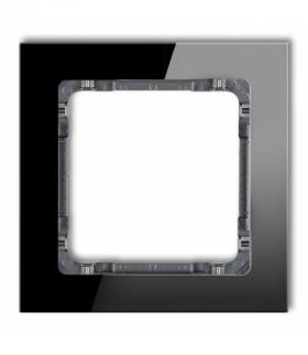 DECO Ramka modułowa niestandardowa (1 moduł) - efekt szkła (ramka czarna spód grafitowy) Czarny Karlik 12-11-DRSMN-1
