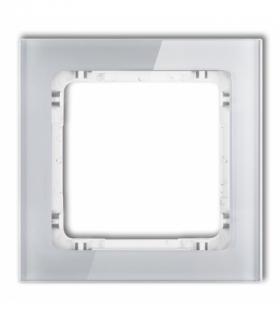 DECO Ramka modułowa niestandardowa (1 moduł) - efekt szkła (ramka szara spód biały) Szary Karlik 15-0-DRSMN-1