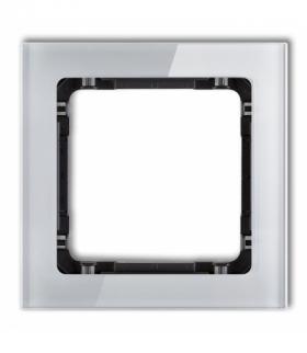 DECO Ramka modułowa niestandardowa (1 moduł) - efekt szkła (ramka szara spód czarny) Szary Karlik 15-12-DRSMN-1