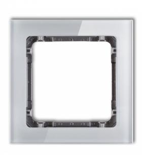 DECO Ramka modułowa niestandardowa (1 moduł) - efekt szkła (ramka szara spód grafitowy) Szary Karlik 15-11-DRSMN-1