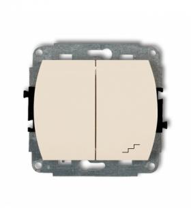 TREND Mechanizm łącznika jednobiegunowego ze schodowym (wspólne zasilanie) Beżowy Karlik 1WP-10.1