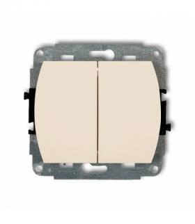 TREND Mechanizm łącznika jednobiegunowego ze schodowym podświetlanego (wspólne zasilanie) Beżowy Karlik 1WP-10L.1