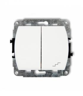 TREND Mechanizm łącznika jednobiegunowego ze schodowym podświetlanego (wspólne zasilanie) Biały Karlik WP-10L.1