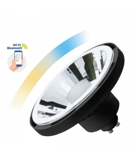 Inteligentna żarówka LED SMART AR111 10W GU10 Wi-Fi Bluetooth CCT DIMM biała obudowa