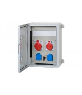 Szafa budowlana 300x400x170, 2x32A 5p, 2x230V, 0/1, 12 modułów F3.0545