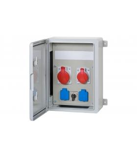 Szafa budowlana 300x400x170, 2x32A 5p, 2x230V, L/P, 12 modułów F3.0546