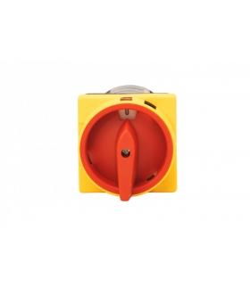 Wyłącznik 32A 0/1 tablicowy zamykany żółto-czerwony F3.1089