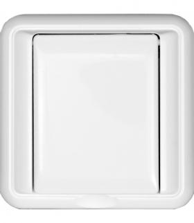 Gniazdo podtynkowe poj. bryzgoszczelne klapka w kolorze obudowy Seria COSMO, BIAŁY 330439