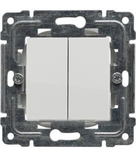 Zaślepka modułowa (2szt. 22,5mmx45mm) Seria DANTE, BIAŁY 450480