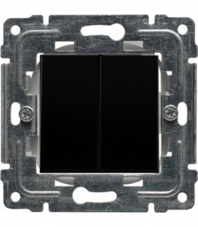 Zaślepka modułowa (2szt. 22,5mmx45mm) Seria DANTE, CZARNY 450980