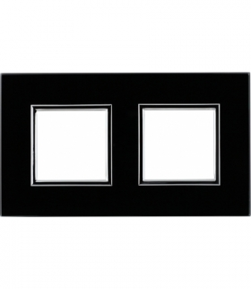 Ramka 2x Seria DANTE, BLACK GLASS 4509182