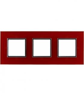 Ramka 3x Seria DANTE, RED GLASS 4510183