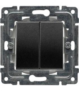 Zaślepka modułowa (2szt. 22,5mmx45mm) Seria DANTE, GRAFIT 456080