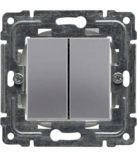 Zaślepka modułowa (2szt. 22,5mmx45mm) Seria DANTE, INOX 454180