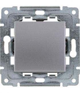 Przycisk światło/dzwonek z klawiszem bez piktogramu, bez ramki, Seria DANTE, INOX 454110