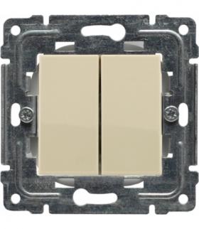 Zaślepka modułowa (2szt. 22,5mmx45mm) Seria DANTE, KREM 450380