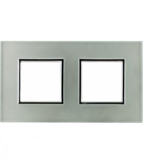 Ramka 2x Seria DANTE, PEARL GLASS 4504182